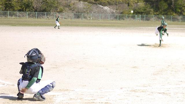 先発ピッチャー「Kしん」の投球練習