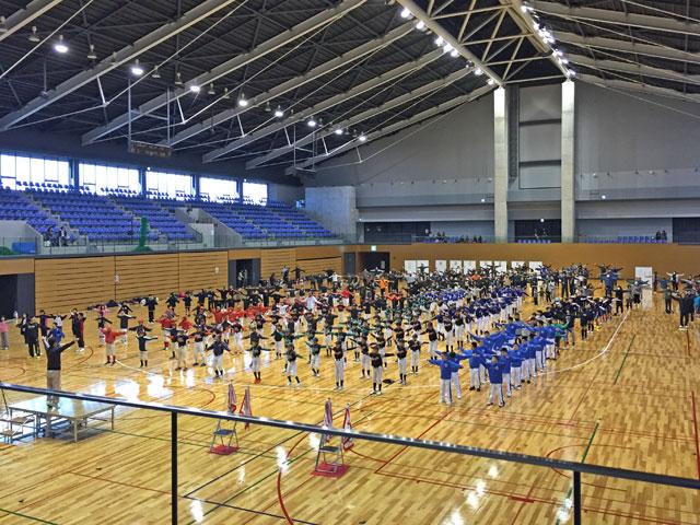 松江市スポーツ少年団親子運動会・準備体操