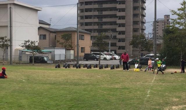 学童野球ティーバッティング4
