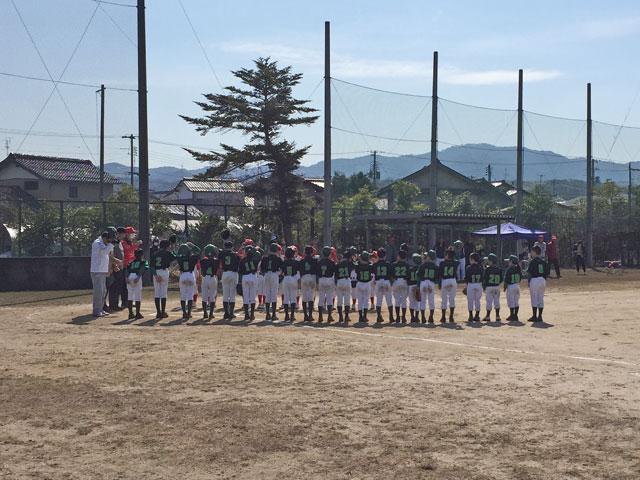 佐世野球スポーツ少年団(雲南市・島根県)と練習試合開始