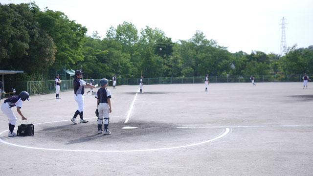 生馬学童野球クラブのシートノック