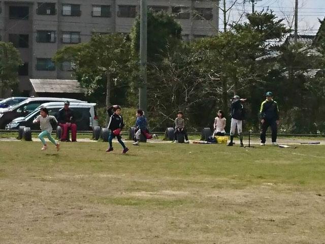 三角ベース試合「野球体験会・種目5」