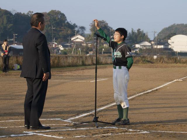 さんびるSKSS杯選手宣誓、木谷キャプテン