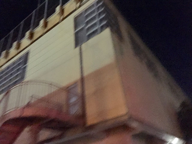 抽選会場の朝日公民館の建物(松江市)