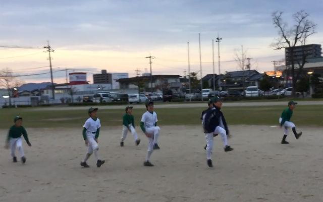 学童野球・城東グリーンソックス今年最後の練習