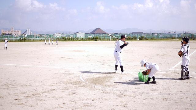 荘原スポーツ少年団シートノック開始
