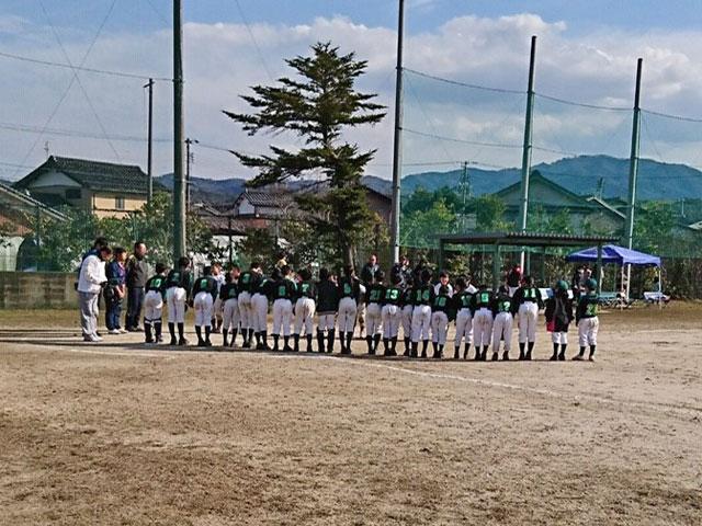 練習試合終了の礼!vs全揖屋ジュニアスポーツ少年団