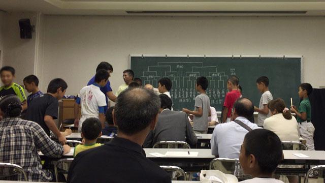 第34回JAカップ組合せ抽選会キャプテンくじ引き