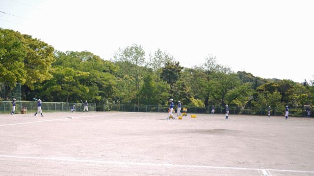 宍道ファイターズ試合前練習開始