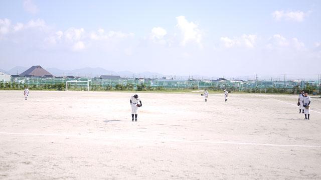荘原スポーツ少年団シートノック終了の礼