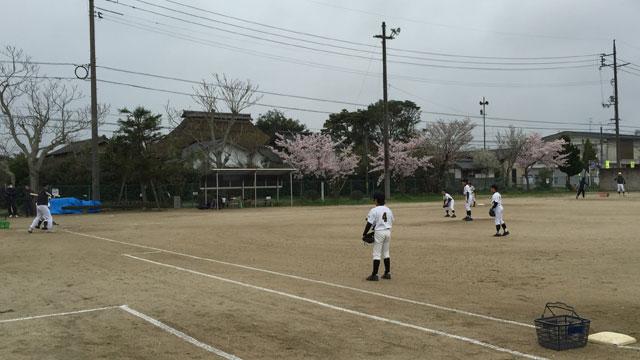 灘分野球スポーツ少年団さんのシートノック
