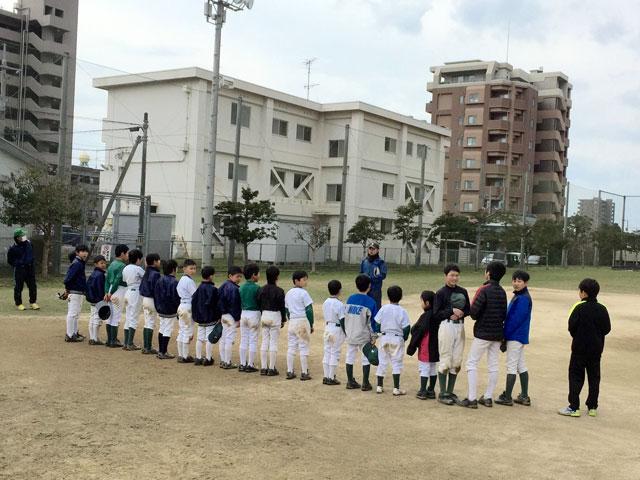 学童野球!良い天候下での日曜練習終了