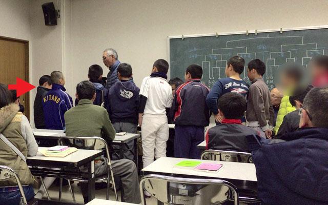 組合せ抽選会-第13回松江市教育長旗争奪学童軟式野球大会