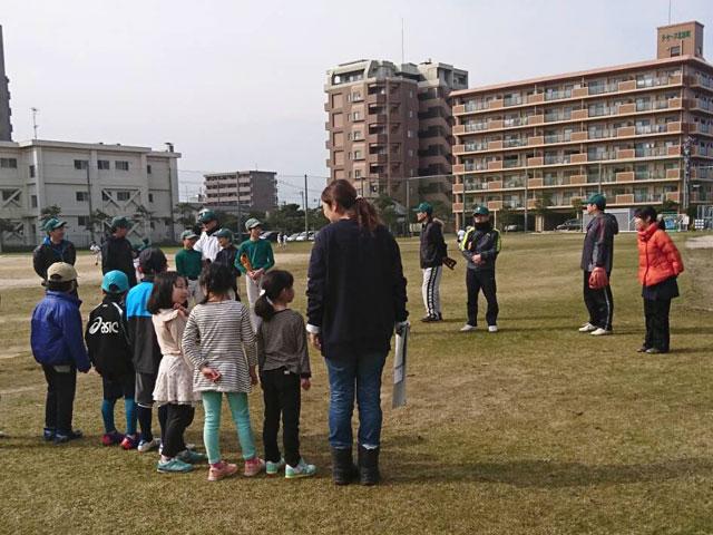 野球体験会・開始前、全員集合