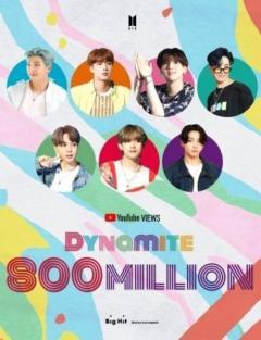 BTS(防弾少年団)、大ヒット曲「Dynamite」のMV再生回数が8億回を突破!変わらない熱い人気