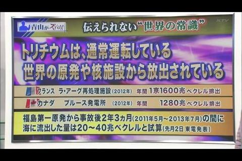 福島第一原発 ベータ線放射能港湾流出 ストロンチウム2.2兆Bq トリチウム4.8兆Bq