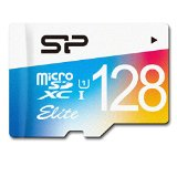 SP シリコンパワー Elite microSDXCカード 128GB UHS-1対応【最大読込75MB/s】防水 防塵 耐X線 永久保証 (アダプタ付) SP128GBSTXBU1V20SP
