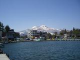野尻湖から見た山