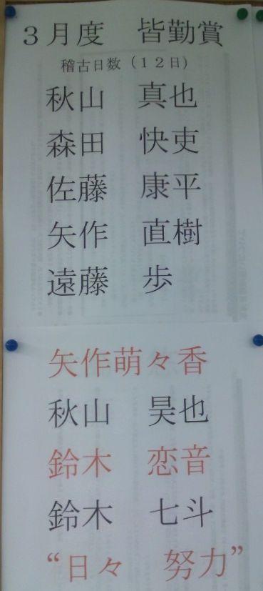 勝田台 2012年3月 少年部