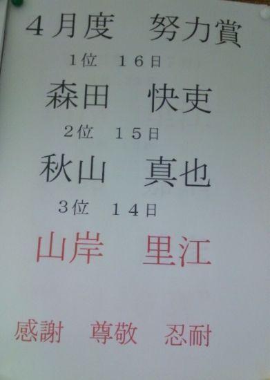 2012年4月勝田台一般部