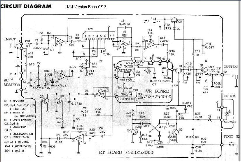 Boss CS-3 MOD : ぴゅあ☆ぴゅあ1949 Boss Cs Schematic on boss cs-2 nashville, boss bf-3, boss oc-3,