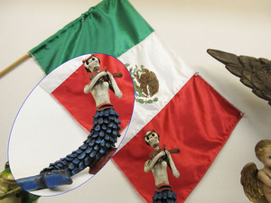 スペイン旗と骸骨