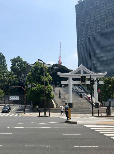 日枝神社大鳥居適2