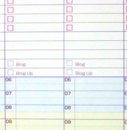 手帳のblog欄