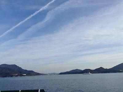 近づく小豆島