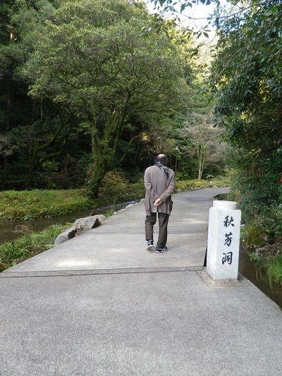洞窟への小道