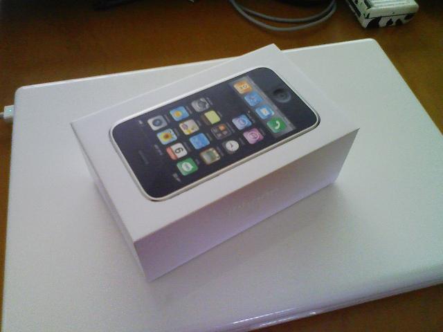 運ばれたiPhone