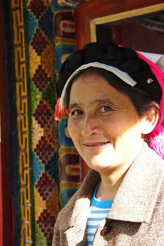 丹巴美人谷の女性1