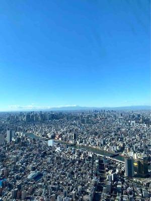 スカイツリーから見える富士山