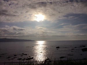 寿都の海と太陽