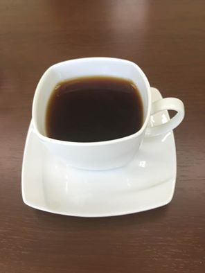 柿の形のコーヒーカップ