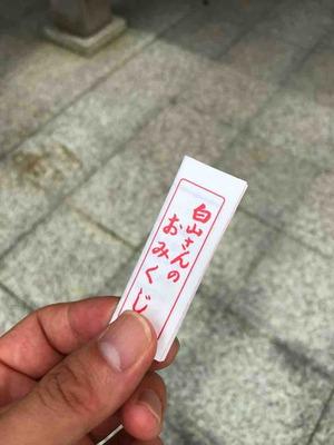 白山比咩神社のおみくじ