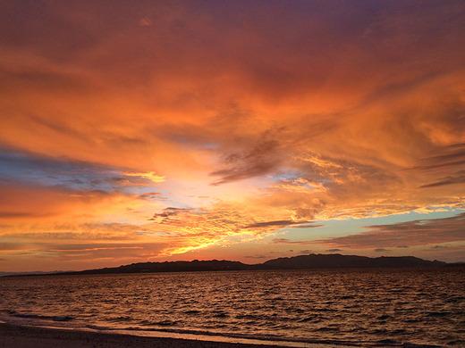 伊江島の朝焼け 2016年1月17日