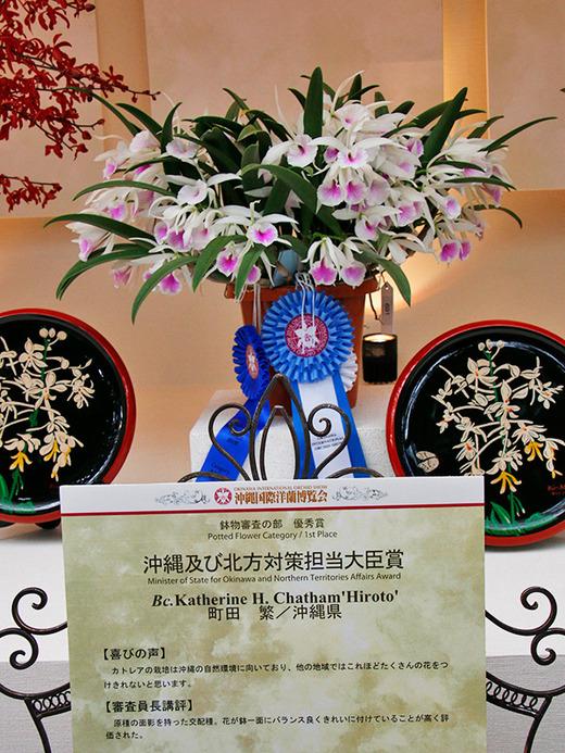 沖縄国際洋蘭博覧会2016 沖縄及び北方対策担当大臣賞