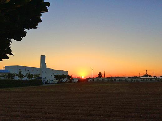 伊江島の夕陽 2016年1月16日