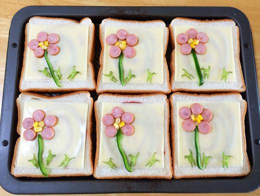 お花のトースト