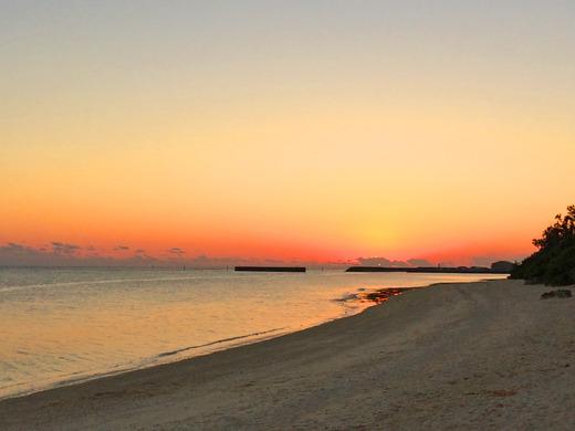 伊江島の夕焼け 2016年1月16日