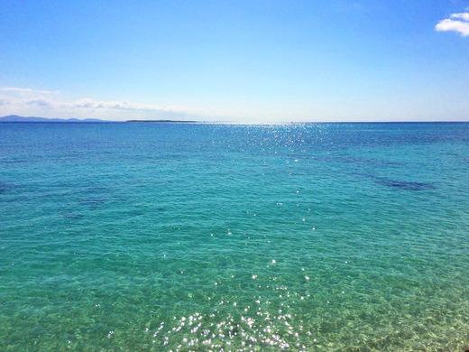 11月後半連休の伊江島の海