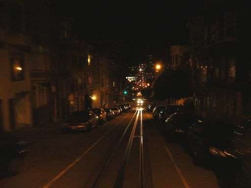 ケーブルカーから見た街