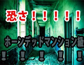 恐さ!!!!!ホーンデッドマンション級!!!!!