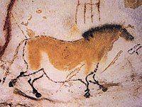 ラスコー洞窟の洞窟絵画。明暗を使い分けた体毛の表現