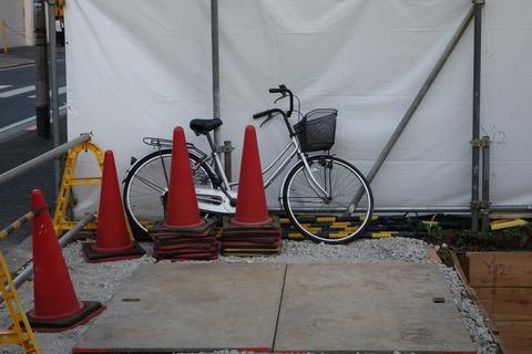 放置自転車 : 自宅兼歯科医院を ...