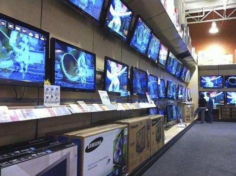 アメリカの家電量販店TV売り場