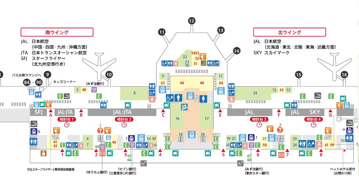 羽田空港マップ