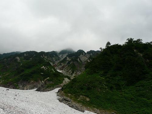 白馬大雪渓取り付き