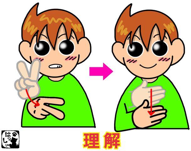 手話単語:678 【理解】【理解する】 : 手話しゅわSHUSHUSHU